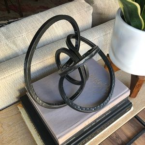 Pier 1 Metal Twisted Knot Sculpture Home Decor
